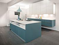 Blauwe eiland keuken 2.6