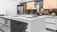 Focus keuken met kookeiland