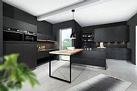 Carbon eilandkeuken design 15.8