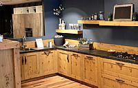 Landelijke massief eiken houten keuken