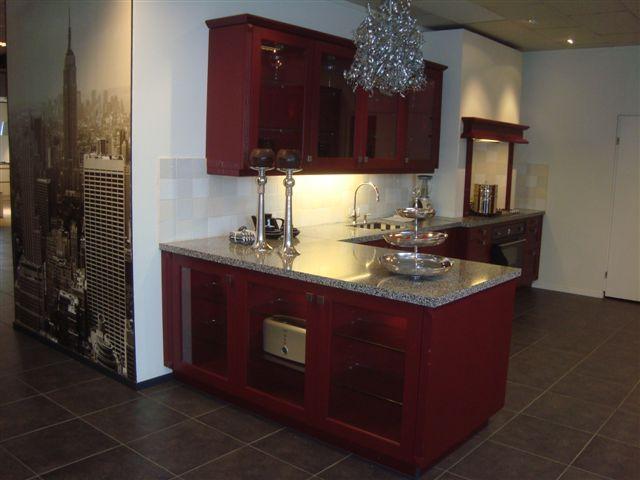 Rode Keuken Tegels : rode keuken 7 47072 prachtige landelijke hoek keuken met losse kasten